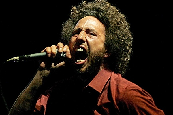 Zach de la Rocha from Rage Against the Machine.