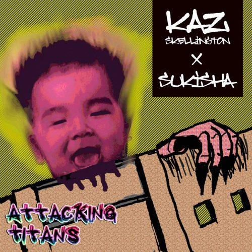 SUKISHAが生み出した楽曲たちをKaz Skellingtonが自由にアレンジ/プロデュースした作品。「Attacking Titans」とは、インディペンデントかつ自主制作で「自由に」活動する2人が、巨大なものに立ち向かっていくコンセプトとなっている。ジャケットの「巨人」は、赤子時代のKaz Skellingtonである。